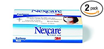 Nexcare Earloop Mask, 20-Count Boxes (Pack of 2)