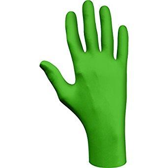 Showa Best 6110PFM GreeN-DEX Biodegradable Industrial Grade Nitrile Glove, Disposable, Powder-Free, 4 mil Thickness, 9-1/2