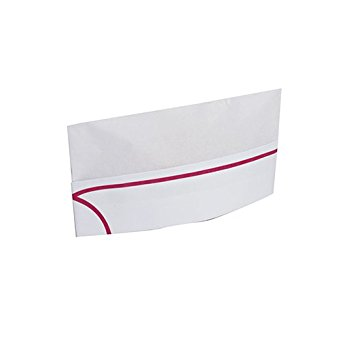 Royal Red Striped Disposable Overseas Caps, Package of 100