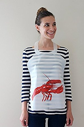 25 Pack Disposable Plastic Lobster Bibs