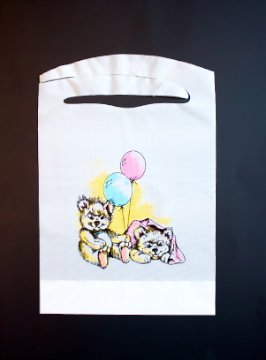 Disposable Bears and Balloons Kids Bibs 25 Pack Plastic Free Shipping