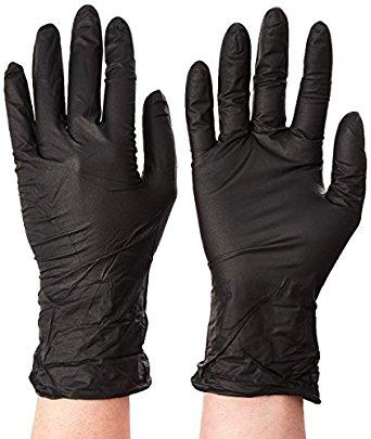 Microflex MK-296-S MidKnight Powder-Free Examination Glove, 9.6