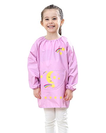 Long Sleeve Pullover Art Smock for Kid Toddler Multifunctional Cute Rainbow Printing...
